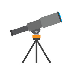 Telescope isolated on white background vector