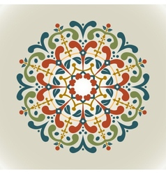 vintage with radial ornament vector image vector image