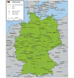 Germany map with selectable territories vector