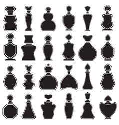 Set of different type of perfume bottles vector