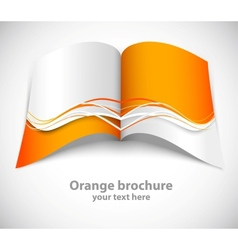 Orange brochure vector