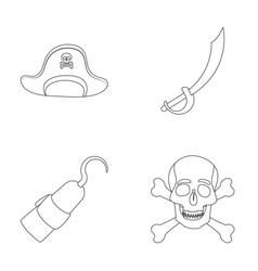 Pirate bandit cap hook pirates set collection vector