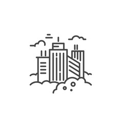 city line icon vector image