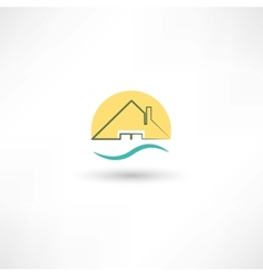 Line house vector