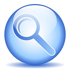 Search sign button vector