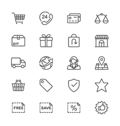 E-commerce thin icons vector image