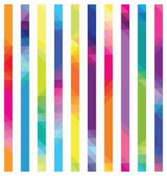 Strips with color transition from triangles a vector