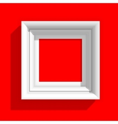 Empty picture frame on red background vector