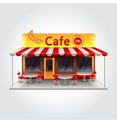 Cafe building isolated vector