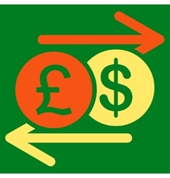 Money exchange icon from business bicolor set vector