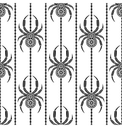 Seamless pattern with insects symmetrical bg vector