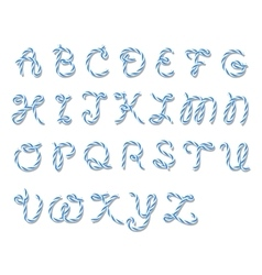 Bakers twine alphabet vector