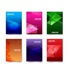 Abstract background set of simple colorful vector