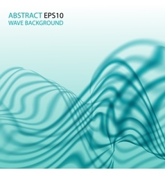 Abstract background with aqua wave vector
