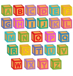 Alphabet english blocks vector