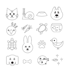 Animal related icon or pet logo set vector image vector image