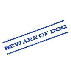 Beware of dog watermark stamp vector