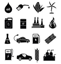 Bio fuel icons set vector