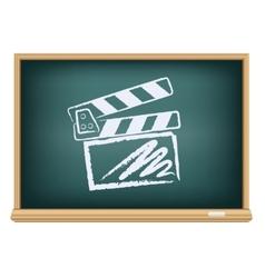 board cinema clapper board vector image