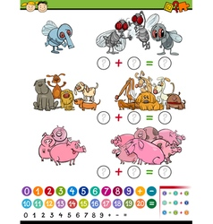 calculate game cartoon vector image vector image