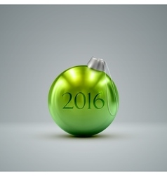 Christmas ball happy new 2016 year vector