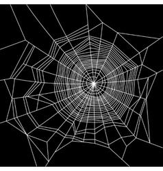 Cobweb white on black background vector