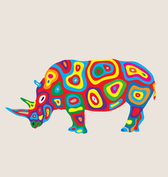 Colorfully rhino vector