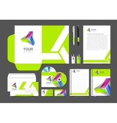 Corporate identity template company style vector