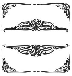 Decorative black frames vector