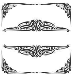 Decorative black frames vector