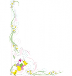 Easter corner vector image vector image