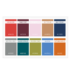 Fall colors for 2017 colors of the year palette vector