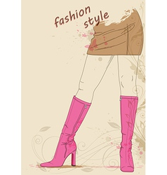 Female legs in boots vector image vector image