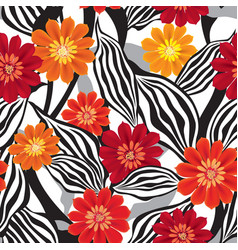 Floral pattern flower seamless background vector