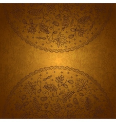 Gold background for messages vector