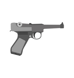 Gun retro vintage cowboy art gangster revolver vector