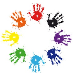 hand print vector image vector image