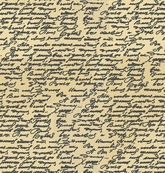 Handwriting seamless pattern Old Abstract letter vector image vector image