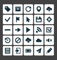 Interface icons set collection of charge base vector