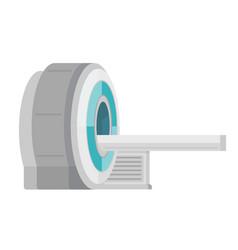 Mri scanner machine cartoon vector