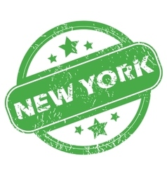 New york green stamp vector