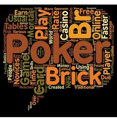Online poker game card 1 text background wordcloud vector