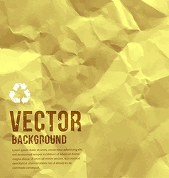 Paper recycle crumpled background vector image vector image