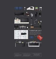 Poster furniture sale vector