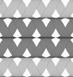 Ribbons gray shades crosses grid pattern vector image vector image
