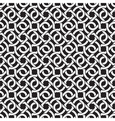 Seamless pattern of intersecting braces vector