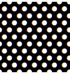 Seamless polka dot pattern with blurred circles vector image