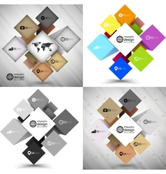 Set of infographic cube box for business concepts vector image