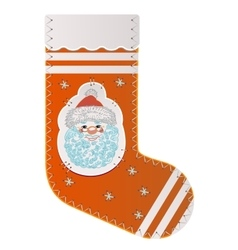 Sock for gifts from Santa Claus vector image vector image