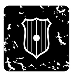 Sripped shield icon grunge style vector